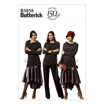 Butterick Schnittmuster 5858 A5 Damen Kombination,Hose,Rock,Oberteil ...