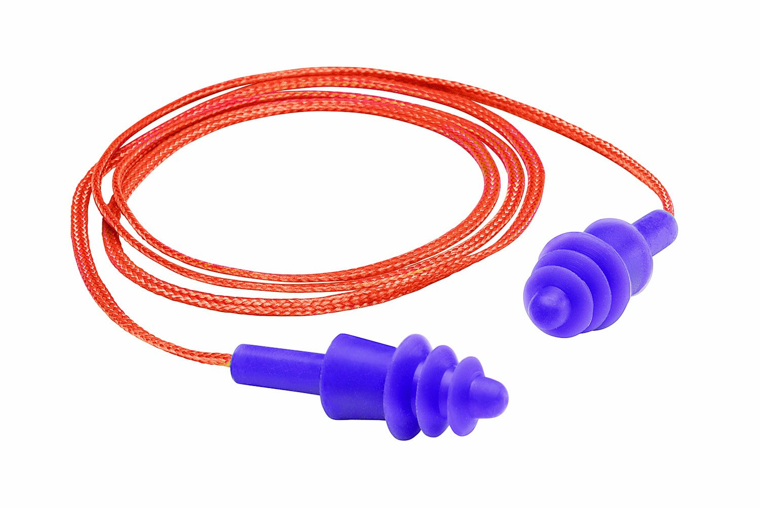 Gateway Safety 93012 Twisters Silicone Corded Reusable Triple-Flanged Earplug, Purple (Box of 100) by Gateway Safety (Image #1)