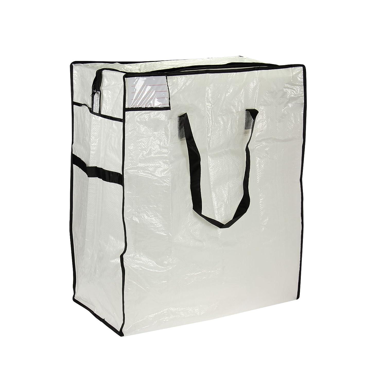 Household Essentials Medium Storage Bag, Clear Polyethylene with Black Trim 2620