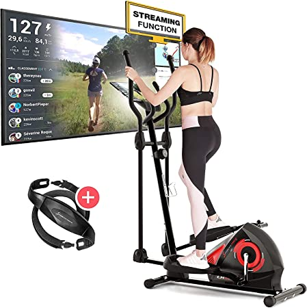 Sportstech CX608 Cross Trainer for Home | German Quality Brand | Video  Events & Multiplayer App & Bluetooth Console | Elliptical with Pulse Belt  for Endurance Training & Tablet Holder: Amazon.co.uk: Sports