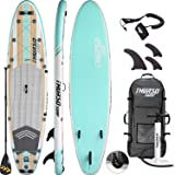 THURSO SURF Waterwalker All-Around Inflatable Stand Up Paddle Board SUP 10'6/11' Long 6'' Thick Two Layer Deluxe Package Includes Carbon Shaft Paddle/2+1 Quick Lock Fins/Leash/Pump/Roller Backpack