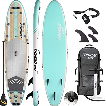 66f78c3fe758b8 THURSO SURF Waterwalker All Around Inflatable Stand Up Paddle Board SUP  10 6 x 31