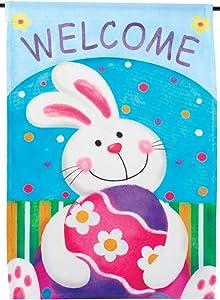 "Fox Valley Traders Mini Easter Vertical Garden Flag, Spring Yard Décor – 15"" Long x 11"" Wide"