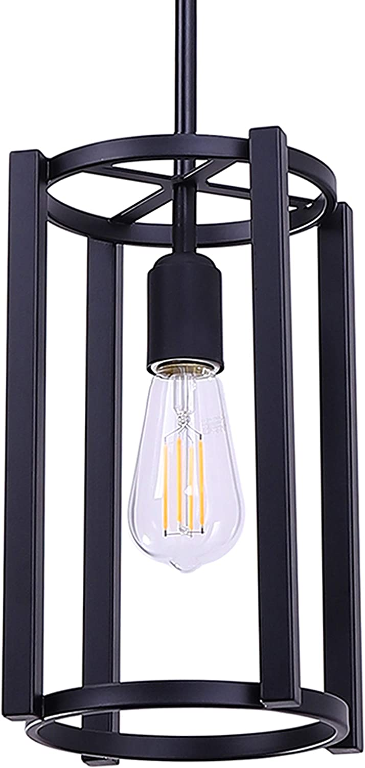 Vergamo Pendant Light Black Hanging Light Fixture with LED Bulb LL-P268-5BLK