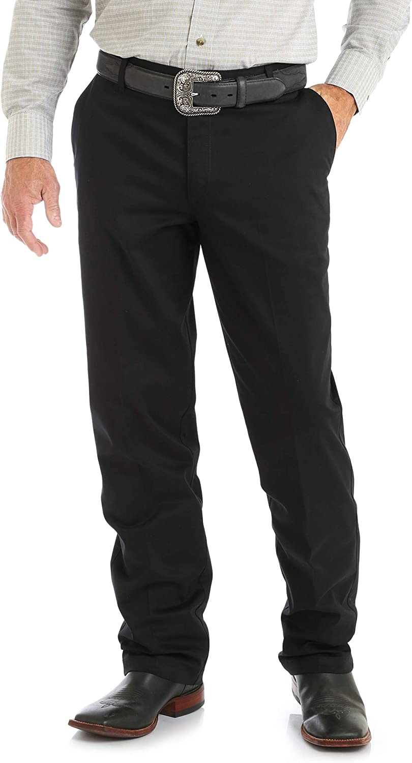 Wrangler Mens Big /& Tall Riata Flat Front Relaxed Fit Casual Pant Pants