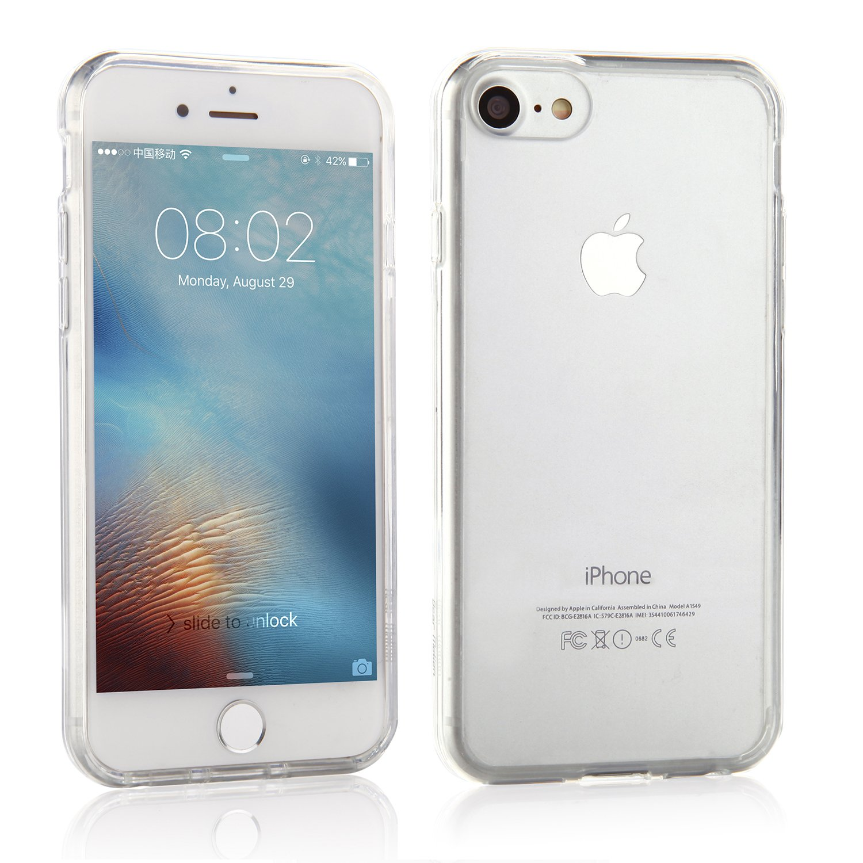 iPhone 7 / iPhone 8用Bear Motion - iPhone 7 / iPhone 8用プレミアムTPU保護バックカバーケース(クリスタル)   B01L19NC26