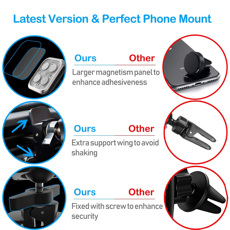 Plozoe Handyhalter f/ürs Auto KFZ Handy Halterung Smartphone GPS Magnethalterung Handy Magnet Handyhalterung L/üftung Autohalterung Upgrade Design Magnetische Auto Handyhalterung L/üftungsschlitz