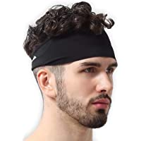 Mens Headband - Running Sweat Head Bands for Sports - Athletic Sweatbands for Workout/Exercise, Tennis & Football…