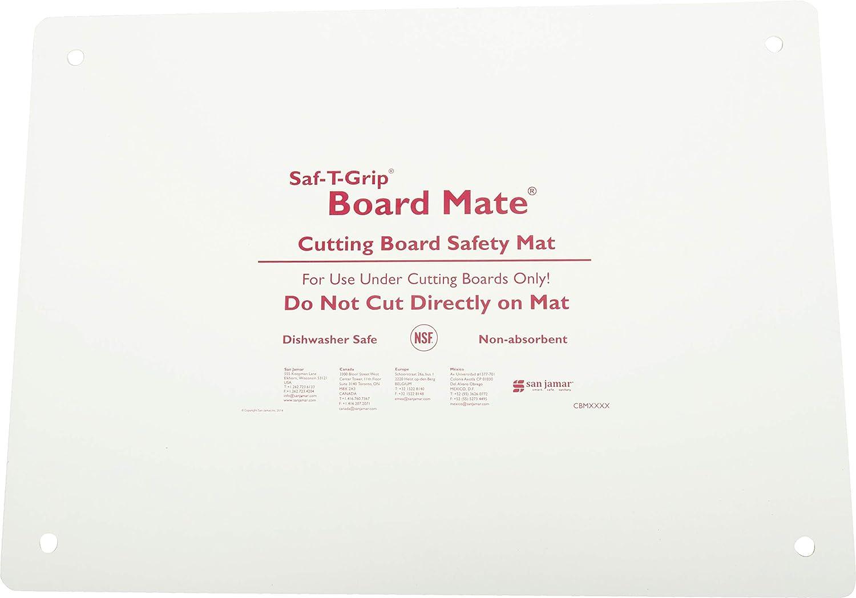 "San Jamar CBM1622 Saf-T-Grip Board-Mate Nonslip Cutting Board Mat, 22"" Width x 16"" Height"
