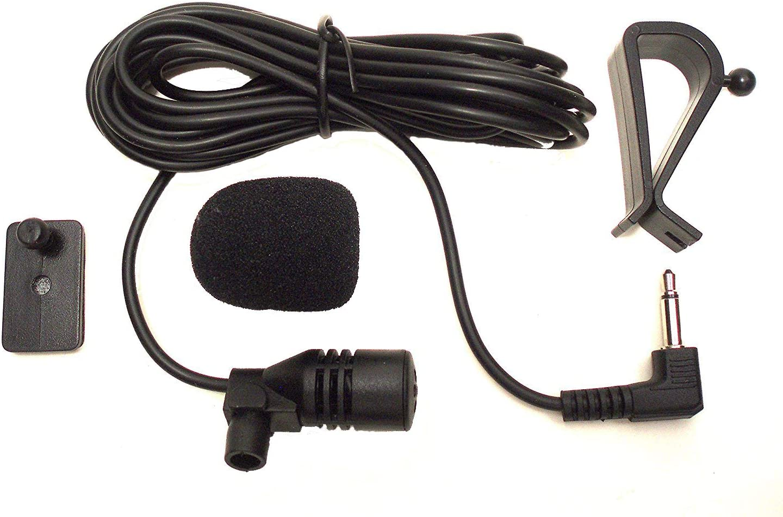 Augustcoco - Micrófono de 3,5mm con montaje externo para coche, con Bluetooth, audio estéreo, radio, GPS, DVD