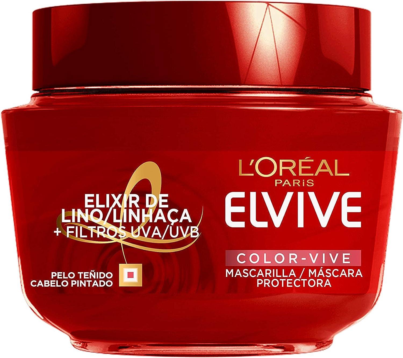 L'Oreal Paris Elvive Color Vive Mascarilla Protectora, para cabellos teñidos o con mechas nutre en profundidad - 300 ml