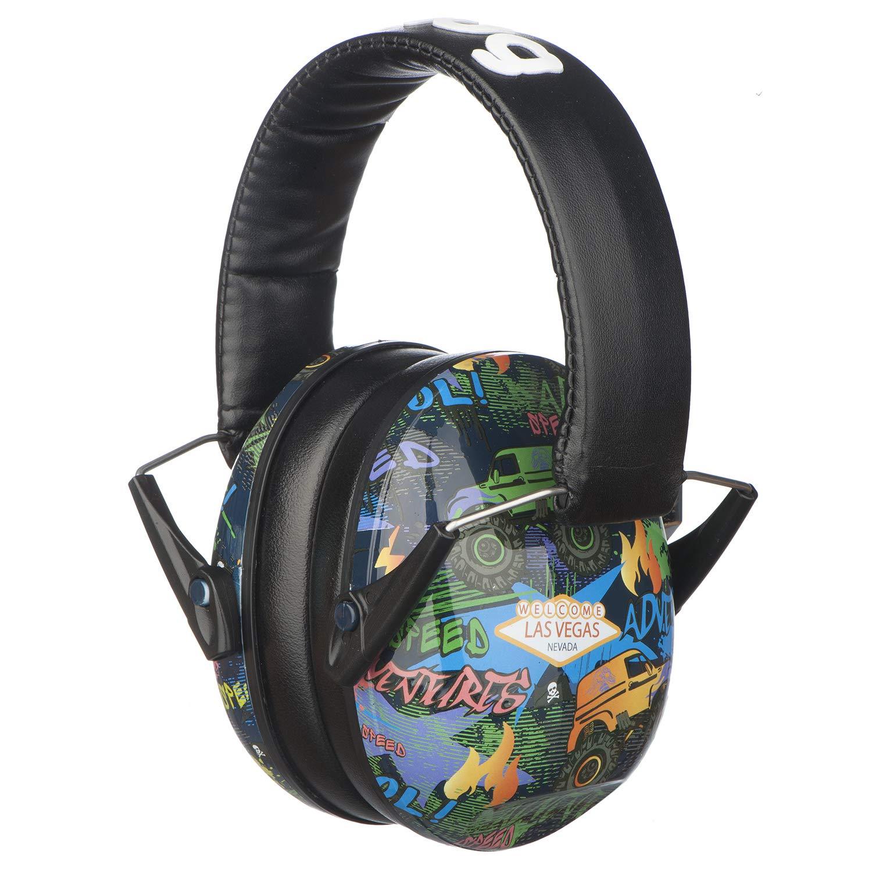Snug Kids Earmuffs/Best Hearing Protectors - Adjustable Headband Ear Defenders for Children and Adults (Monster Trucks) by Snug