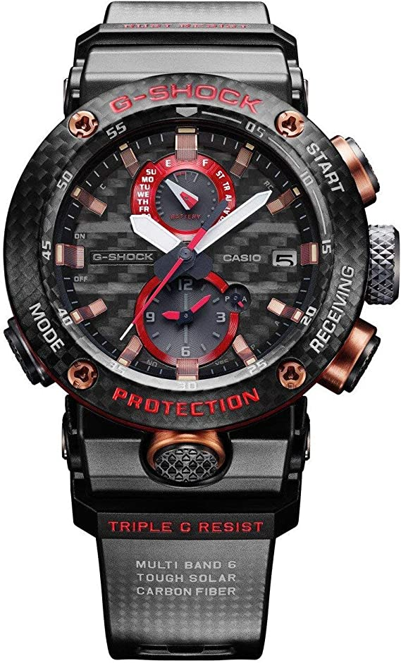 Amazon Com Men S Casio G Shock Mt G Connected Red Resin Strap Limited Edition Watch Mtgb1000b 1a4 Watches