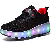 أحذية تزلج مريحة ذو عجلات بإضاءة ليد وسطح شبكي للفتيات والفتيان من هوسكس وير