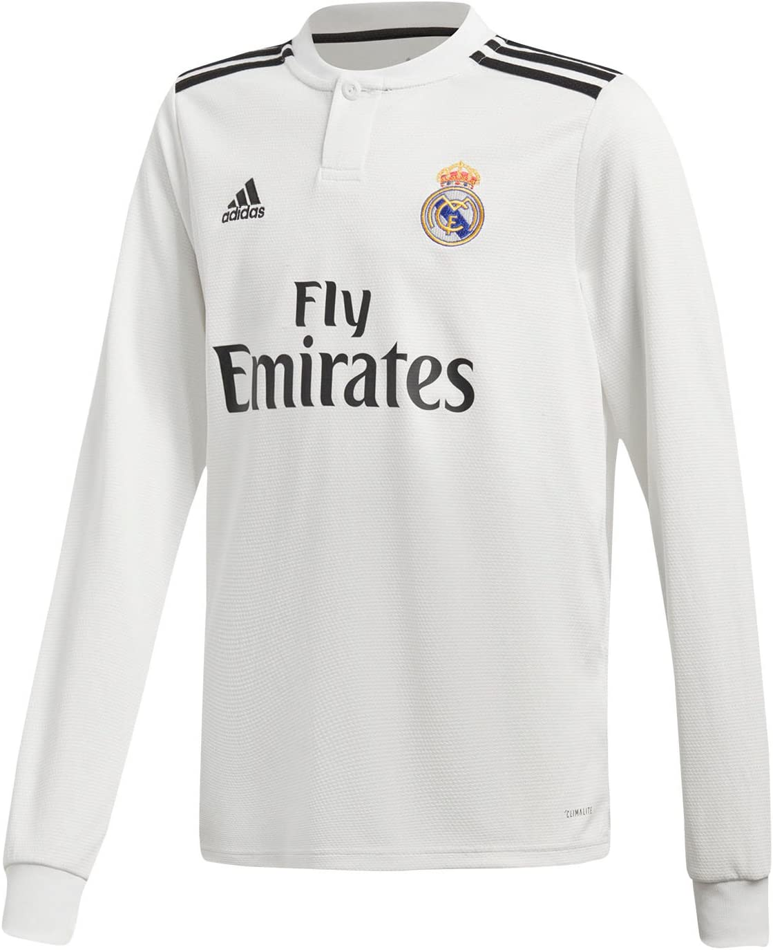 White//Gold Youth Real Madrid Home Long Sleeve Jersey 2019-20