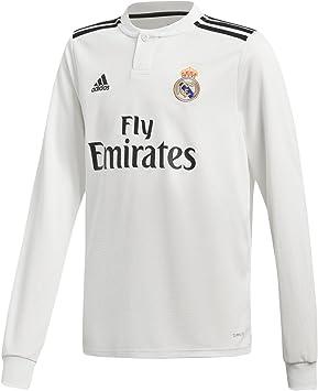 adidas 18/19 Real Madrid Home Longsleeve - Camiseta de Manga Larga Niños: Amazon.es: Deportes y aire libre