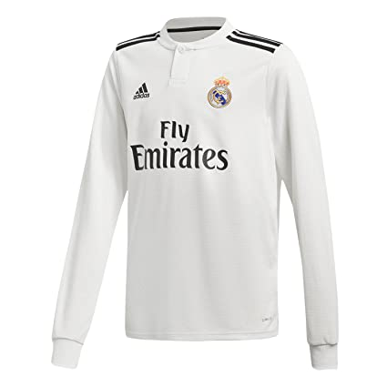 size 40 1f808 fc9bc adidas 2018-2019 Real Madrid Home Long Sleeve Football ...