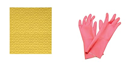 Scotch-Brite Kitchen Gloves and Sponge Wipe Combo Set