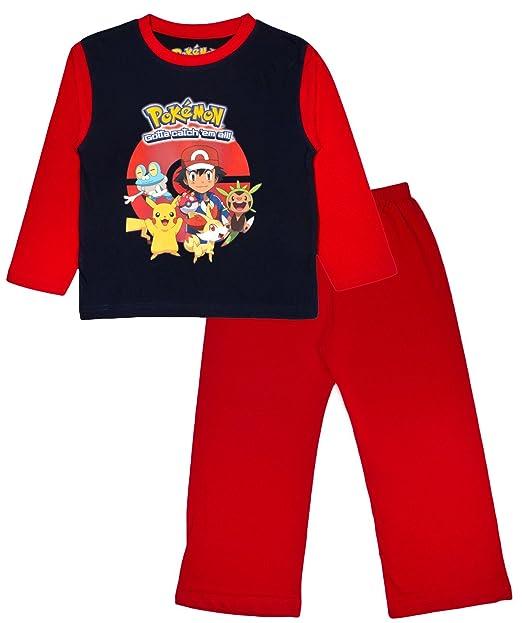 ce64b90cf2 Pokémon ragazzi Pikachu Go pigiama lungo pigiama 2 pezzi Set pigiama  bambini taglia UK 4 - 13 anni Red 4-5 Anni: Amazon.it: Abbigliamento