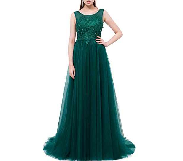 JUHGN Green Lace the Bride Banquet Prom Dress Custom Party Formal Gown 2
