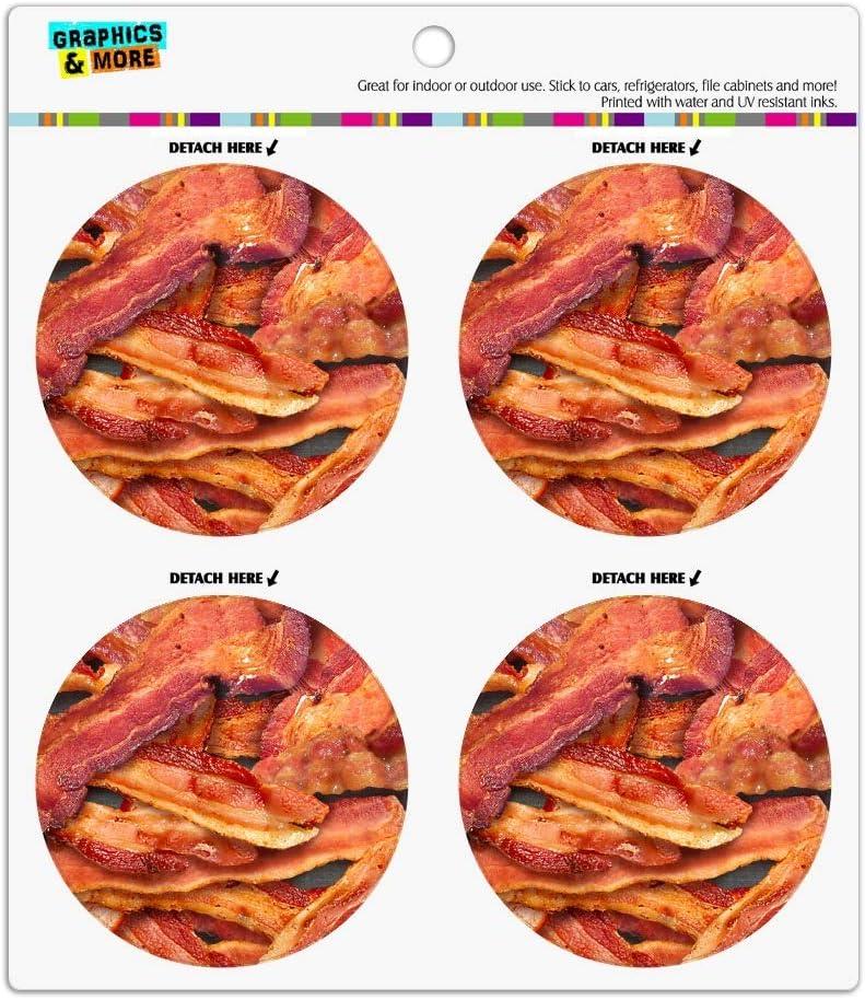 Bacon Galore Refrigerator Fridge Locker Vinyl Circle Magnet Set