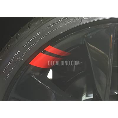 Decaldino Wheel Hash Mark Redline Decals v2 for Silverado + Light Red: Automotive