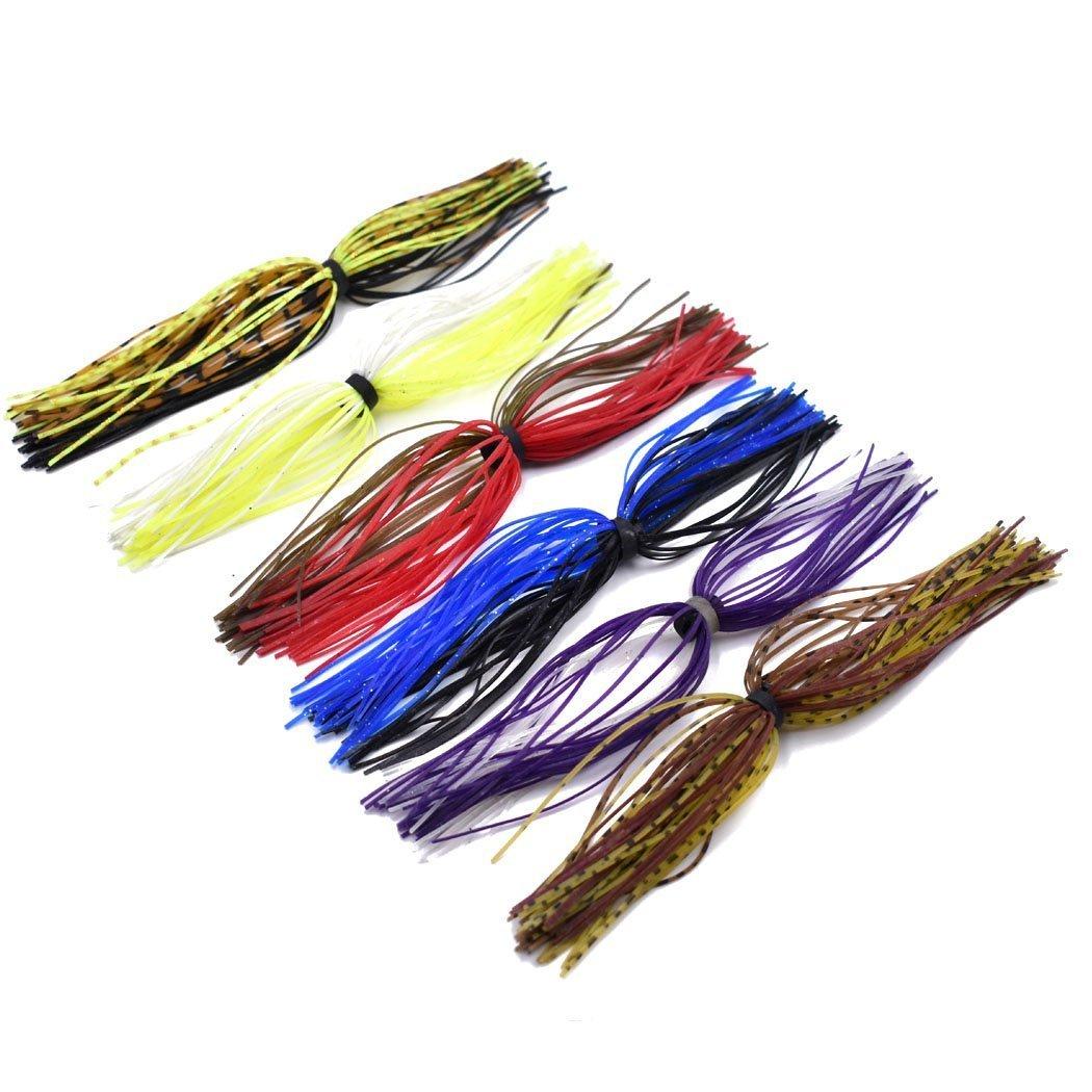 12 Pezzi Gonne Esche Siliconi da Pesca con Anello di Gomma per Materiale di Pesca a Spinning Spinnerbaits Esche (12 Pezzi) Phad Fishing