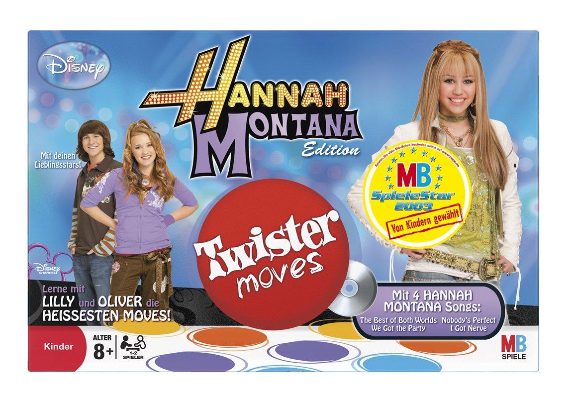 Hasbro 46808100 - MB Twister Moves Hannah Montana inkl. 2 CDs: Amazon.de:  Spielzeug