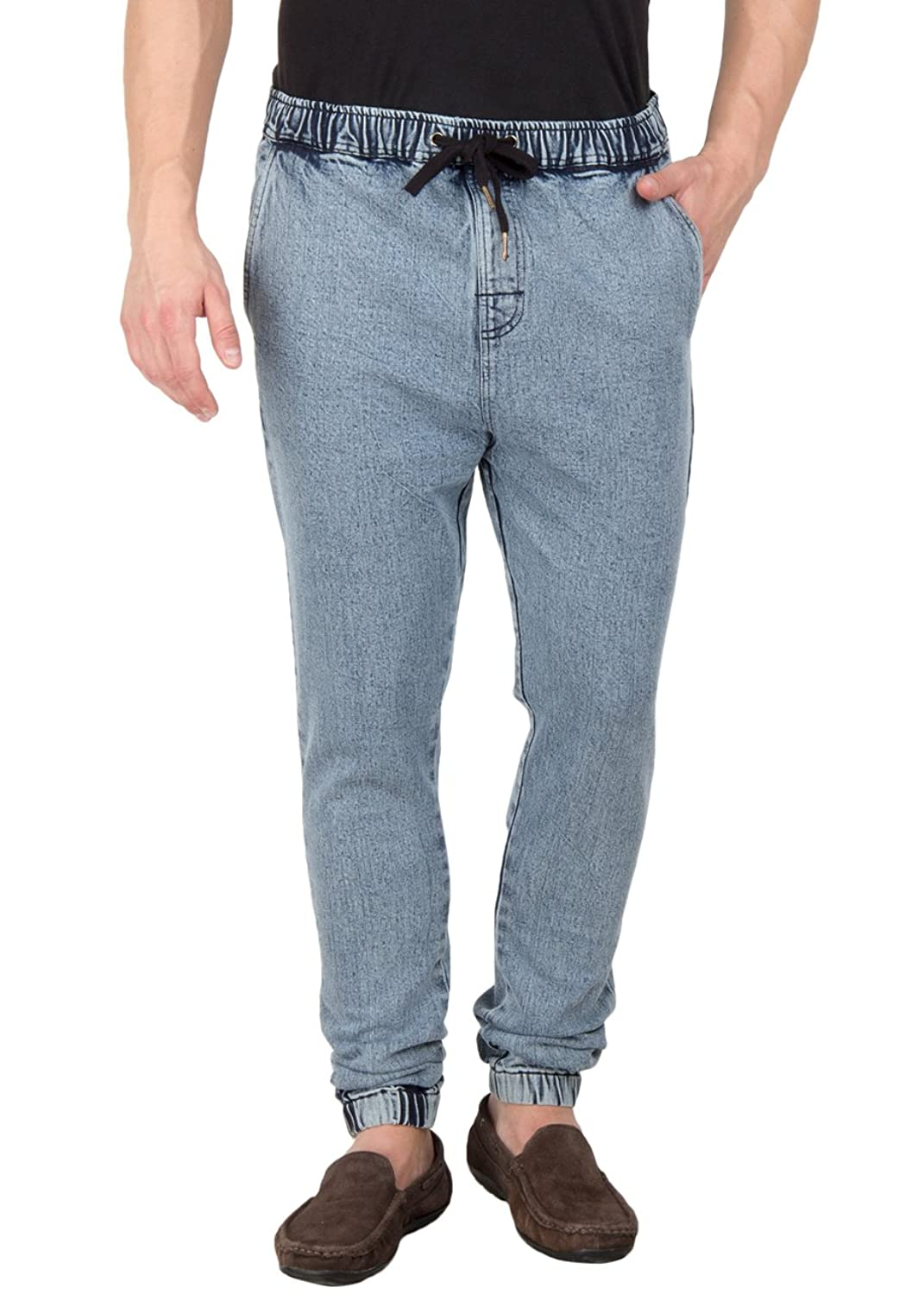Hypernation Blue Color Denim Jogger Pant For Men: Amazon.in: Clothing &  Accessories