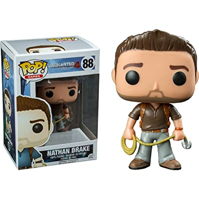 Funko POP! Games Nathan Drake Uncharted 4 Brown Shirt Vinyl Figure #88 Exclusive: Toys & Games
