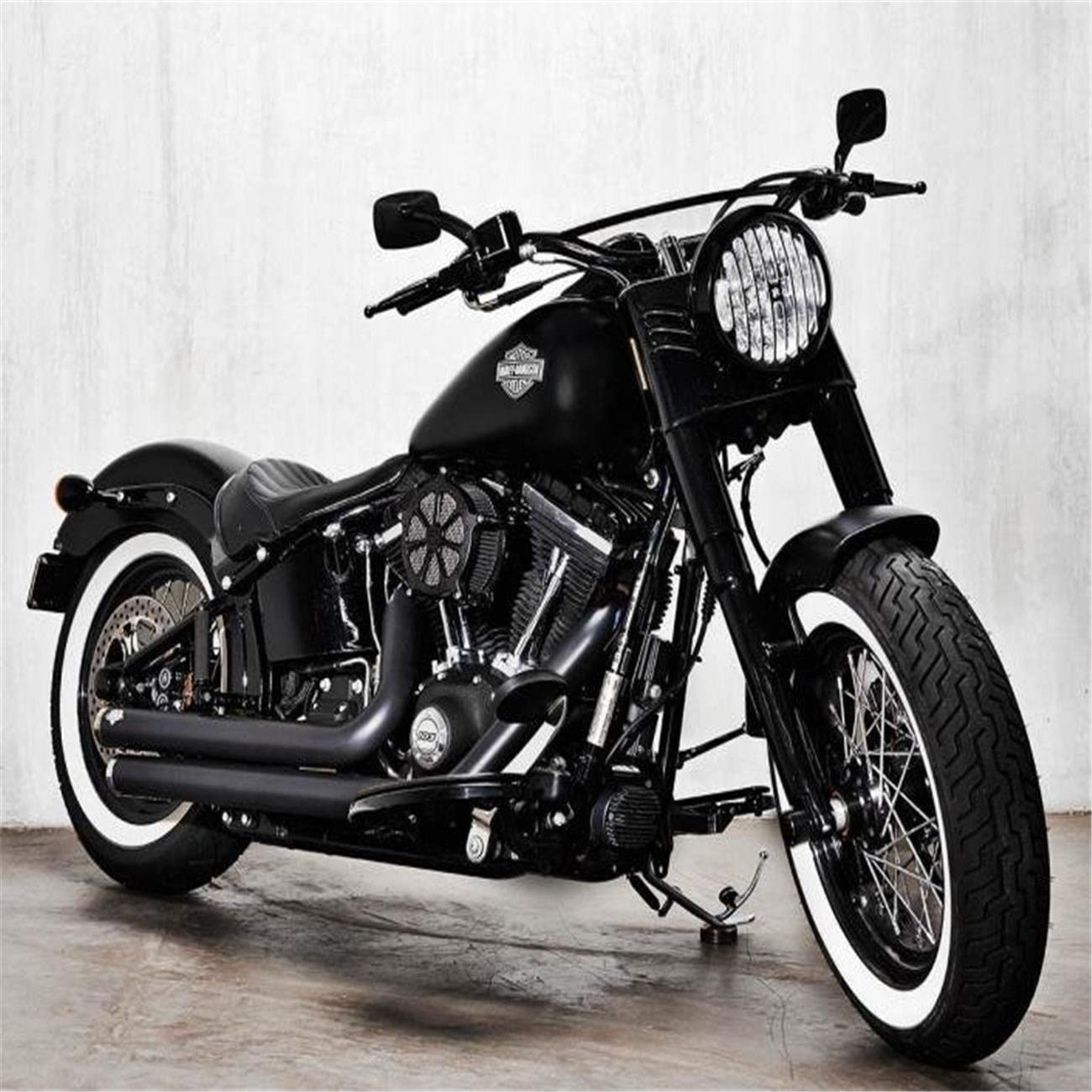 CICMOD Motorrad Solo Sitz Front solo Seat f/ür Harley Davidson XL883 XL1200 X4