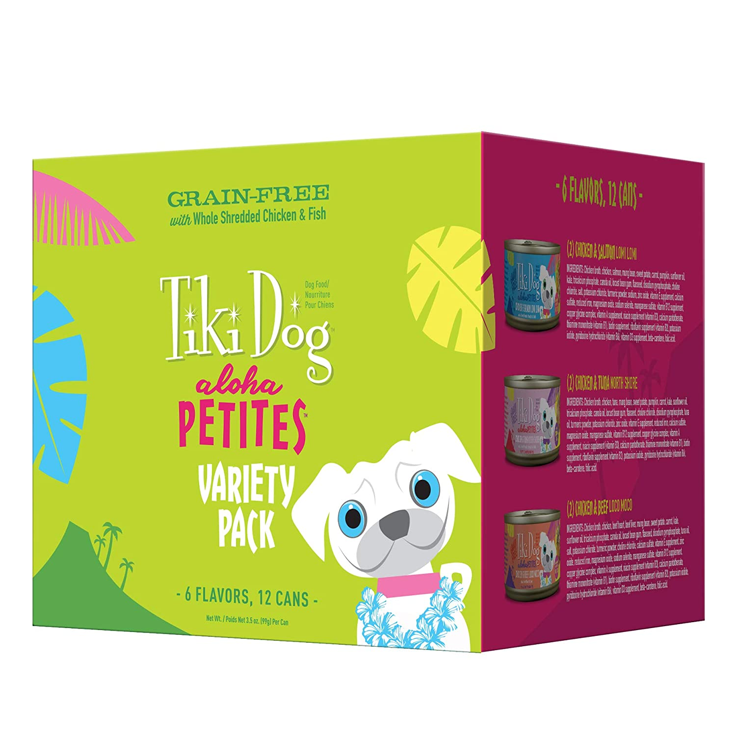 Tiki Dog Aloha Petites Gluten & Grain Free Wet Food for Adult Dogs with Shredded Meat & Superfoods