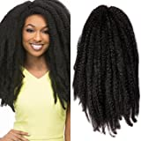 Pack of 3 Afro Kinky Marley Braids Hair Extensions ELEGANT MUSES Kanekalon Synthetic Twist Crochet Braiding Hair 18 inch 100g/pcs