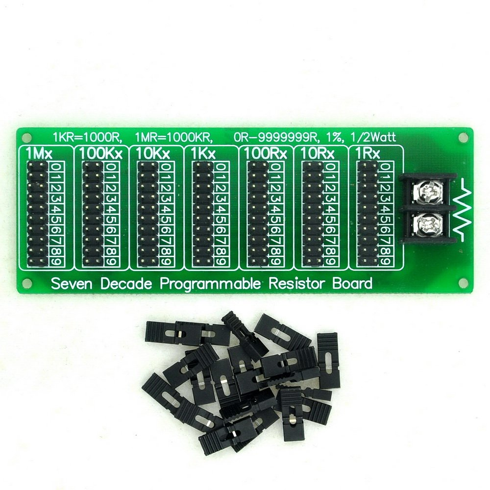 Electronics Salon 1r 9999999r Seven Decade Resistor That Allows You To Control And Vary The Resistance It Programmable Board Step 1 2 Watt Industrial Scientific