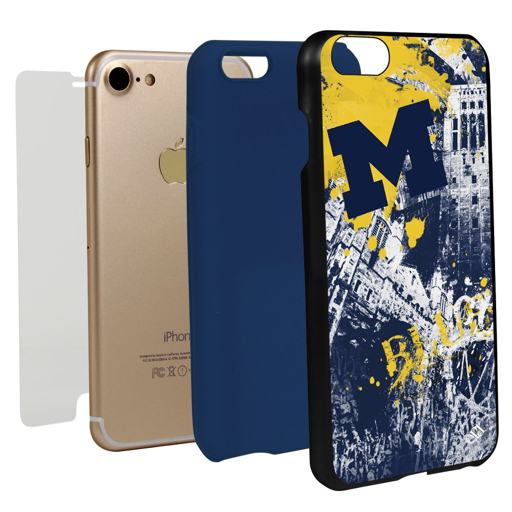 Guard Dog Michigan Wolverines Paulson Designs Spirit Case for iPhone 7/8 with Guard Glass Screen Protector by Guard Dog
