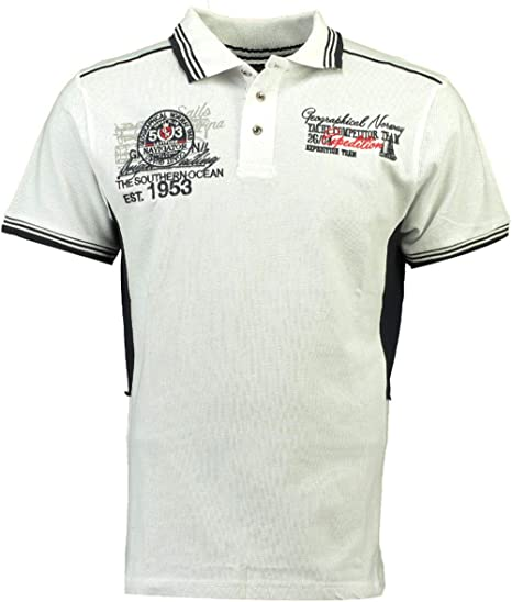 Geographic Norway Kling SS Hombres Polo Camisa, SR035H/GN, Blanco, Medium: Amazon.es: Deportes y aire libre