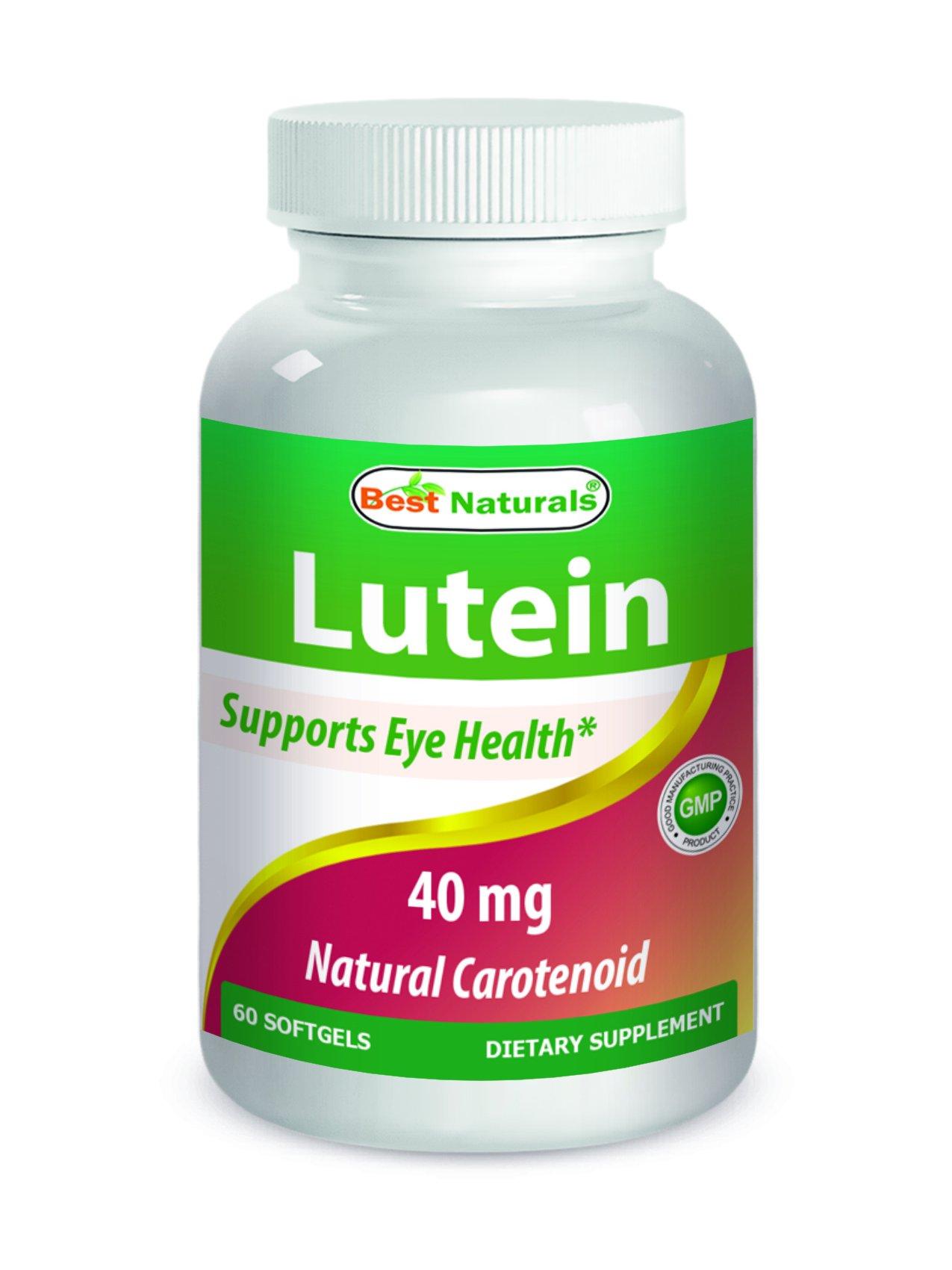 Best Naturals Lutein 40 mg 60 Softgels by Best Naturals