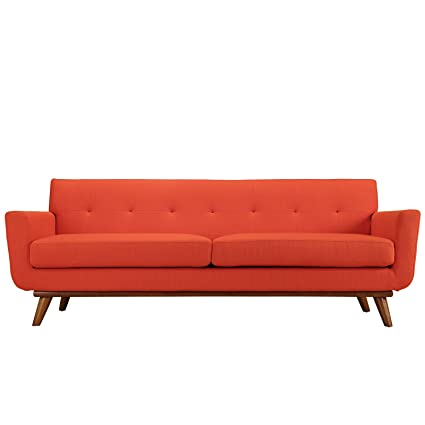 Amazon.com: Retro Modern Lounge Sofa, Red: Kitchen & Dining