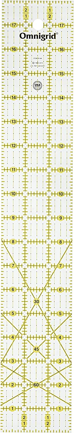 Quilters Ruler Dritz RE524 OmniEdge 5 by 24-Inch Non-Slip