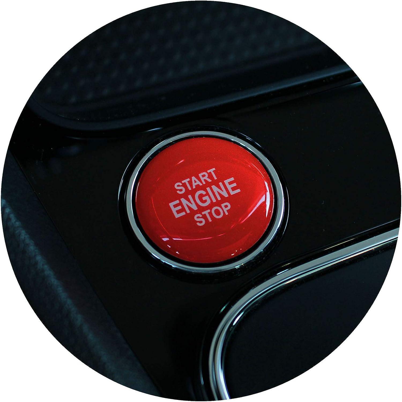 Gel Emblem Start Stop Knopf Abdeckung Aufkleber Keyless Go Carbon Druckschalter Tastenabdeckung Cover Zündung Finest Folia Dm004 Rot Glanz Auto