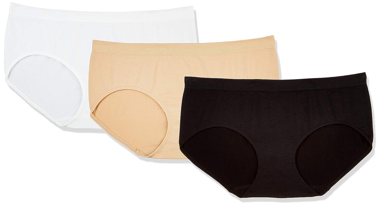 4fdaebb7f Amazon.com  Layla s Celebrity 3 Pack Women s Seamless Hipster Nylon Spandex  Underwear  Clothing