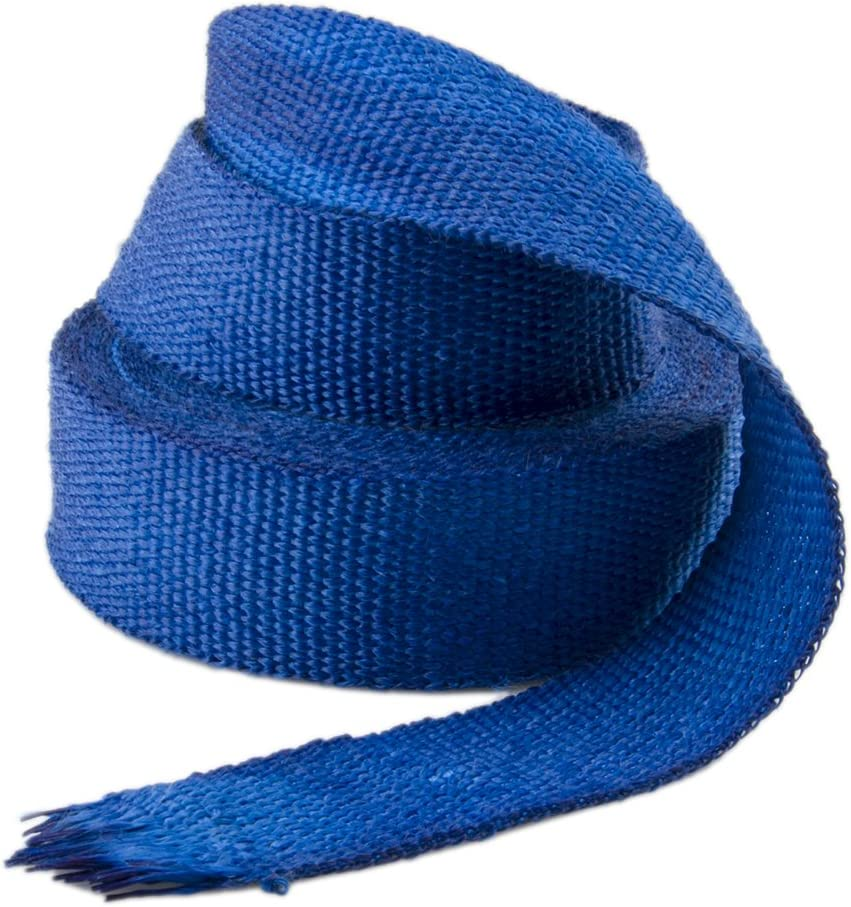 2 inch by 50 feet Exhaust Manifold Thermal Fiberglass Wrap Stainless Steel Ties,Blue