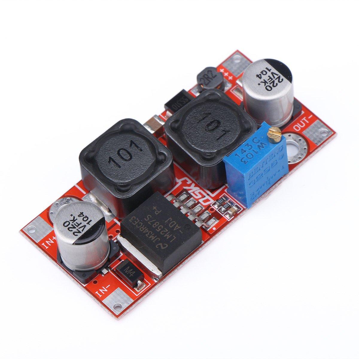 Drok Lm2587 Auto Step Up Down Converter Dc 5 35v Circuits Apmilifier 5v To 12v Lm2577 Voltage Electronics