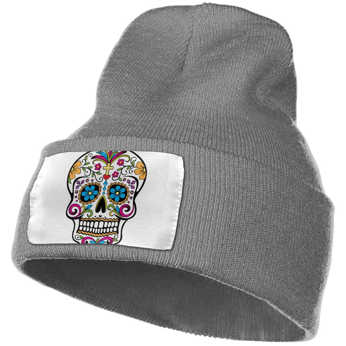 QZqDQ Dead of The Day Skull Unisex Fashion Knitted Hat Luxury Hip-Hop Cap