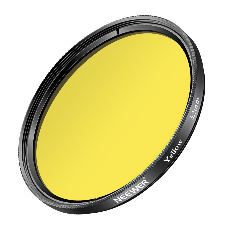 Neewer 52MM Yellow Lens Filter for Nikon D7100 D7000 D5200 D5100 D5000 D3300 D3200 D3000 D90 D80 DSLR Cameras, Made of HD Optical Glass and Aluminum Alloy Frame
