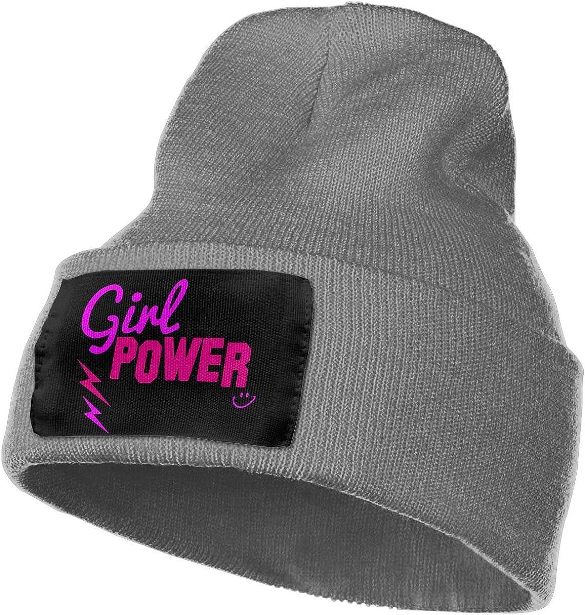 WHOO93@Y Mens Womens 100/% Acrylic Knitting Hat Cap Girl Power Fashion Beanie Hat