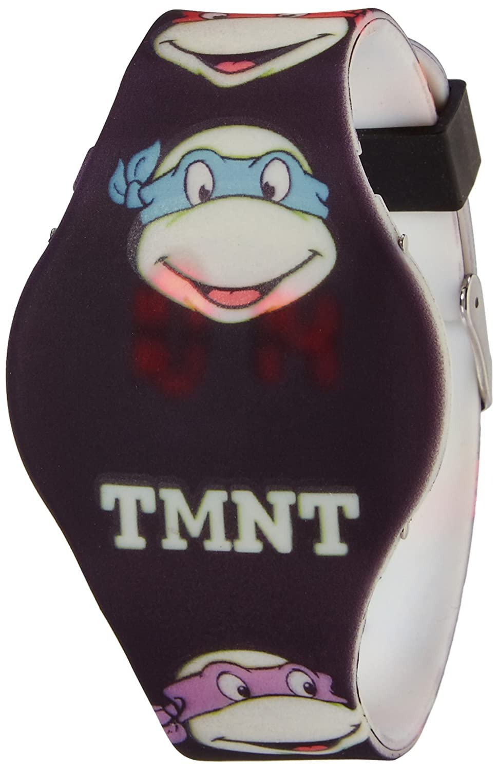 Amazon.com: TMNT Glow In The Dark Faces LED Watch: Accutime ...