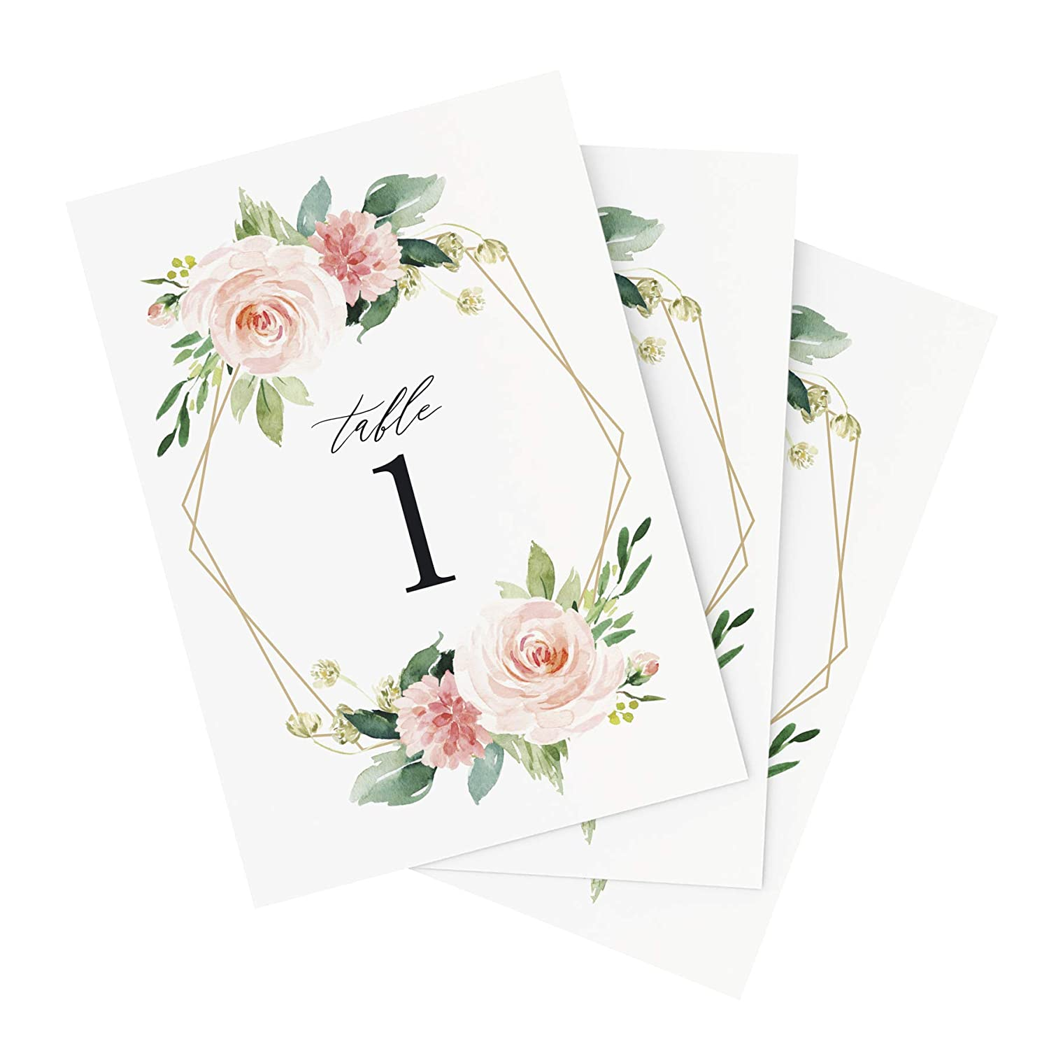 25fbb7b9fd4 Amazon.com  Bliss Paper Boutique Floral Wedding Table Numbers