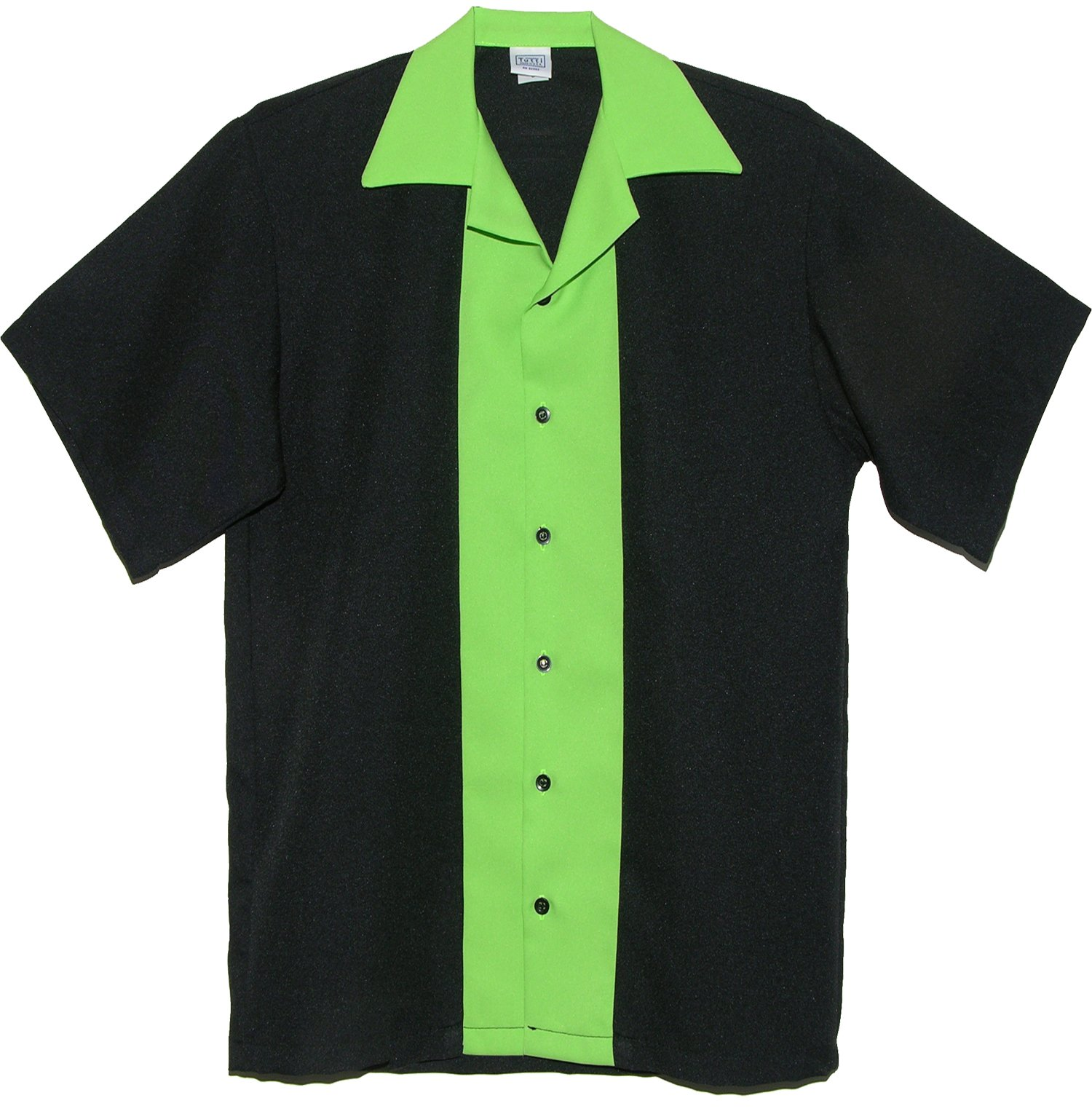 Tutti Mens Bowling Shirts (Small) Lime Green