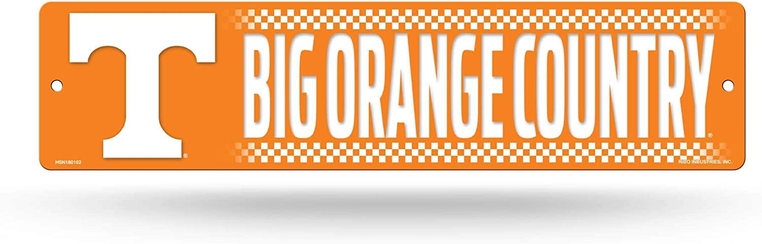 NCAA Rico Industries 16-Inch Plastic Street Sign Décor, Tennessee Volunteers